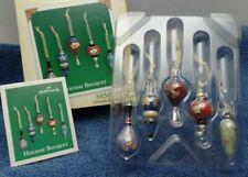 2004 Hallmark Keepsake Miniature Ornaments 2004 Holiday Bouquet Set Of 5