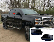 Fit: 2014-2018 Chevy Silverado/GMC Sierra Full Mirror Cover No Light Gloss Black