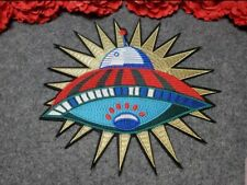 Planet patch, Embroidered Iron on patch, Fashion UFO Patch
