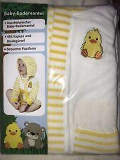 Baby Bademantel Ente Gelb Tiere  80% Baumwolle Gr. 7-12 Monate 74/80 Zustand NEU