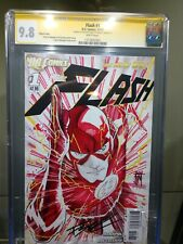 1:200 Flash #1 CGC SS 9.8 Sketch Cover colored by Francis Manapul one of a kind!