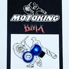 MOTOKING BMX MAGIC 8 BALL VALVE CAPS PRESTA BLUE