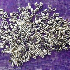 Silver Crimp Beads 500 Pieces Alloy Metal 1.8mm x1.9mm  #0923