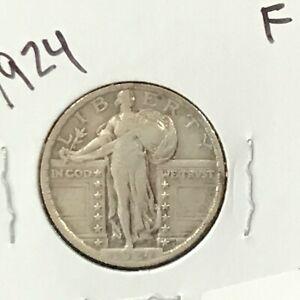 1924 Standing Liberty Silver Quarter  E8858