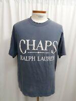 Men's Chaps Ralph Lauren T-shirt Size Large Vintage 100% Cotton blue gray