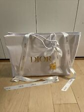 """DIOR Empty Shopping Bag 16.5""""x11.5""""x5"""" w/ Tissue Paper, Gold Star, Ribbons"""