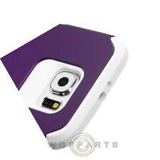 Samsung Galaxy S6 Advanced Armor Case - Purple/White Cover Shell Shield