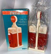 Vintage Coca Cola Salt and Pepper Shaker Vending Machine Design New Sealed