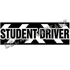 22 Inch Student Driver Caution Vinyl Sticker Decal