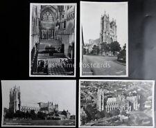 Yorkshire 4 x BEVERLEY MINSTER - Old RP Postcard by Walter Scott