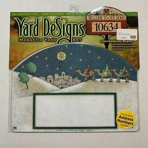 Yard DeSigns Magnetic Yard Art Sign City Of Bethlehem Xmas W/ Address Numbers
