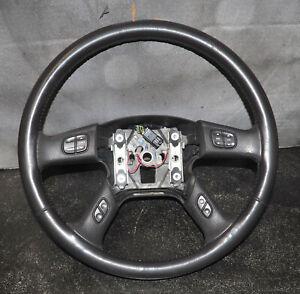 2003-2007 Silverado Sierra Steering Wheel Black Leather Genuine OEM W/Warranty