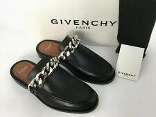 4518cc94a Givenchy Chain Strap Black Leather Loafer Mule Slide Shoes 36.5