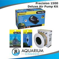 Aquarium Air Pump Kit - Aqua One 1500 Precision, 2M Airline Check Valve Airstone