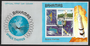 Bahamas 1981 Space 4v & miniature sheet on 2 FDC