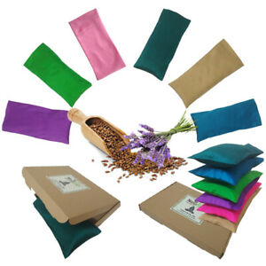 Yoga Eye Pillow Premium Quality Lavender Flax Seed Purple Pink Blue Teal Props
