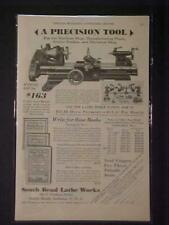 VINTAGE ~South Bend Machinist Tool Machine Lathe ART PRINT AD~ ORIG ANTIQUE 1930