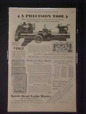 Old ~South Bend Machinist Tool Machine Lathe ART PRINT AD~ ORIGINAL ANTIQUE 1930