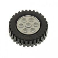 1x Lego Technic Rad schwarz Felge alt-hell grau 13x24 269626 4141535 2695c01