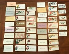 Lot of 40+ Victorian Calling Cards. Flowers Scrapbooking. (3rd lot - S - W)