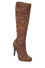 """JUSTFAB bottes léopard marron """"faux poils"""" - P. 36.5 - neuves"""