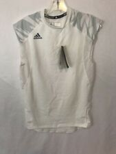 Men's Small Adidas Tank Top Training Techfit Gray White Nwt 070 $35 Retail