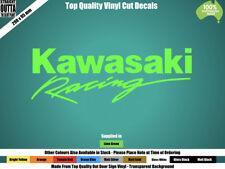 KAWASAKI RACING DECAL - MOTO GP,  CAFE RACER, STREET BIKE, MOTOR CROSS - GREEN