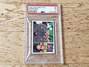 Ediciones Este Spanish Liga 82-83,rare Rookie card Diego Maradona #6, PSA 5 Exc.