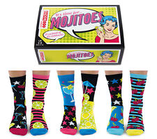 United Oddsocks Mojitoes Set of 6 Oddly Mis Matched Ladies UK 4 - 8 Fun Socks