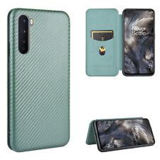 NEW Flip Magnetic Carbon Fiber Stand Leather Wallet Slim Phone Case Cover &Strap