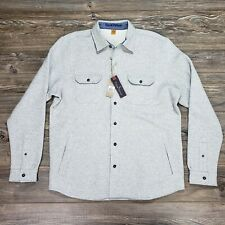 Tailor Vintage Mens Button Up Fleece Shirt Heather Gray Size L - NWT MSRP $118