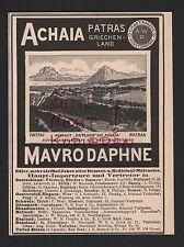 PATRAS, Werbung 1898, Achaia Mavro Daphne Dessert Medicinal Wein