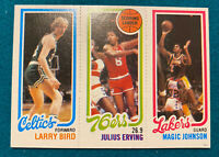 1980-81 Topps Basketball Larry Bird Magic Johnson Julius Erving ROOKIE RC NBA