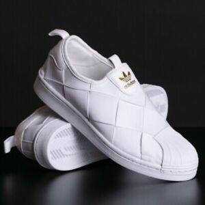 Adidas Originals Superstar Women's Slip On Athletic White Sneaker Shell Toe Shoe