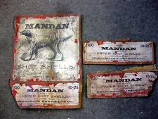 RARE Original MANDAN 100 rd 10 gauge SHOT SHELL BOX Creedmoor Cartridge Co.