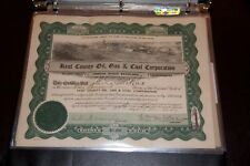 Kent County Oil, Gas, & Coal Corporation   STOCK CERTIFICATE Rare 1917