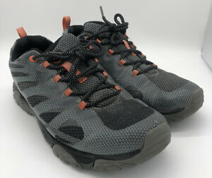 Mens Merrell Sz 12 Moab Edge Gray Orange Hiking Shoes J06113 Select Grip
