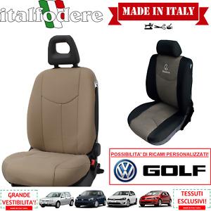 COPPIA COPRISEDILI Specifici Volkswagen GOLF Foderine ANTERIORI GOLF Tortora
