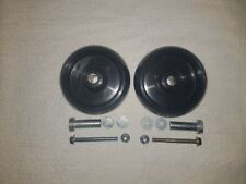 john deere deck wheels x2  with wheel hardware x2