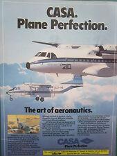 7/1985 PUB AVION CASA MADRID SPAIN C-212 C-235 AIRCRAFT ORIGINAL AD