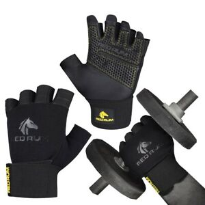 REDRUM Leather Weight lifting gloves Fitness Training Gym Bodybuilding workout