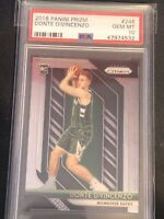 2018 Panini Prizm Base Donte DiVincenzo ROOKIE RC #246 PSA 10 GEM MINT BUCKS