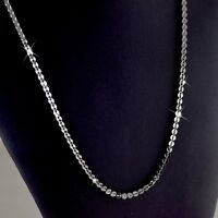 18k white gold plated fashion chain necklace 70cm long 4.1mm XLL Aeiwo jewelry