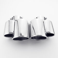 Pair Porsche 911 996 Look Dual Out Bolt On Stainless Steel Exhaust Tips 2.25""