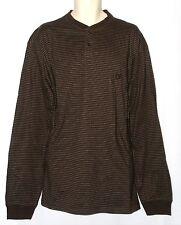 Chaps NEW Henley Striped Cotton Shirt Top Mens Big & Tall 2XT 3XT 4XB $54