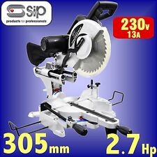 SIP 01504 240v 305mm 12 LASER guided Sliding Double Bevel Compound Mitre Saw