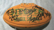 #CC. AUTOGRAPHED LEATHER RUGBY LEAGUE BALL - FAMOUS PLAYERS