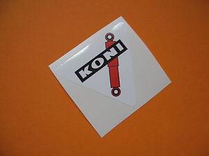 KONI triangular sticker/decal x4