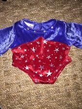 BUILD A BEAR Gymnastics Leotard Red Blue Olympics CLOTHES COSTUME Dance USA