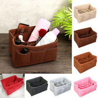 Felt Insert Bag Multi Pockets Handbag Purse Organizer Cosmetic Makeup Travel